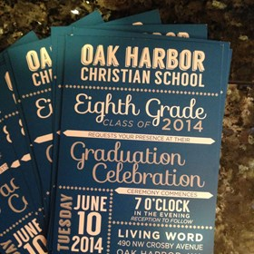 - Printed Materials - Invitations - Oak Harbor Christian School - Oak Harbor, WA